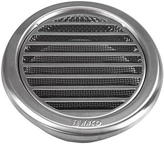 MKK Wetterschutz Lamellen Edelstahl Lüftungsgitter Durchmesser 110 mm Zuluft Abluft rund mit Insektennetz Garage Küche Bad Wand Lufthaube