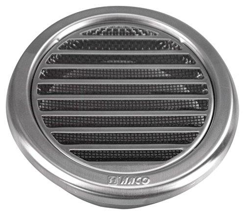 MKK Wetterschutz Lamellen Edelstahl Lüftungsgitter Ø 110 mm Zuluft Abluft rund mit Insektennetz Garage Küche Bad Wand Lufthaube
