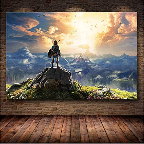 H/L The Game Poster Decor Painting Of The Legend Of Zelda: Breath Of The Wild On Hd Canvas Art Canvas Painting Poster 40X50Cm -Pd999