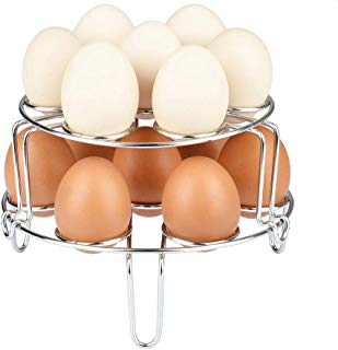 [Upgraded Version]Maxracy 2 Piece Stackable Steamer Rack for Instant Pot Accessories Stainless Steel Egg Assist Trivet Vegetable Steam Rack for Pressure Cooker Accessories