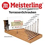 Meisterling TerrassenSchrauben 5 x 40 mm Edelstahl/INOX gehärtet
