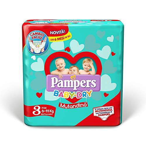Pampers Baby Dry Mutandino Midi Größe 3 (3-11Kg) 26 Windeln