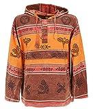 Guru-Shop, Goa Hoody, Baja Hoody Nepalhoodie, Arancione Arrugginito, Dimensione Indumenti:M, Felpe con Cappuccio