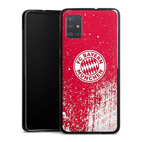 DeinDesign Silikon Hülle kompatibel mit Samsung Galaxy A51 Case schwarz Handyhülle FC Bayern München Offizielles Lizenzprodukt FCB