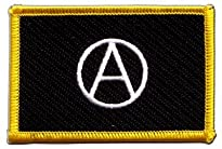 Flaggen Aufnäher Motiv A Anarchie 8 x 5,5 cm