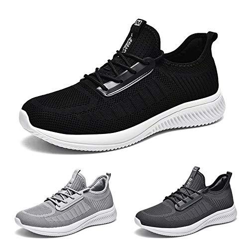 Kinghealth Zapatillas de correr para hombre con estilo casual para gimnasio y deportes, color, talla 42 1/3 EU