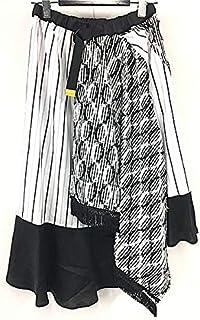 gommeゴム/ラップフレアSKT/白黒×黒 GL-S37-621-1