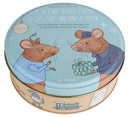 Adventskalender für Kinder: Die kleine Maus freut sich auf Weihnachten - 24 kurze Geschichten zum Vorlesen für Kinder ab 3 Jahren. In Blechdose mit 24 Karten zum Aufhängen