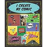 I create my comic: 大人、10代、子供向けの100本の空白のコミックストリップ