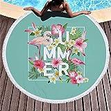 GTWTHH Flamingo Serie Sommer Strandtuch 150 cm Mikrofaser Schwimmen Badetuch Outdoor Sport Yoga Casual Decke Strand Matte -