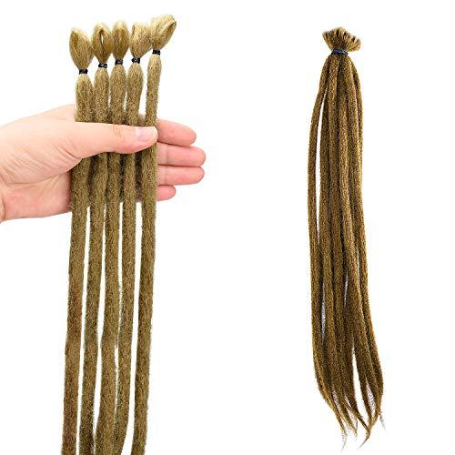 Noverlife 10PCS 50cm Brown Dreadlock Extensions, Accesorios de rastas sintéticas de ganchillo de un solo extremo, Punk Hip-Hop Reggae Hair Trenzado Pelucas Faux Locs para Moda Hombres Mujeres