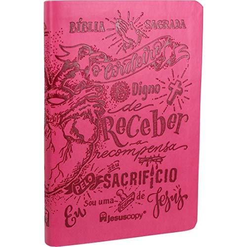 Bíblia Sagrada NAA - Lettering Pink - Jesus Copy