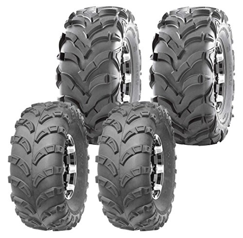 Set of 4 WANDA ATV Tires 23x7-10 23x7x10 Front & 24x11-10 24x11x10 Rear 6PR
