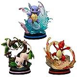 3pc / Set Takara Tomy - Pokémon Go Figuras Juguetes de acción Modelo Muñecas de Anime Wartortle Mew Mewtwo PVC 13cm