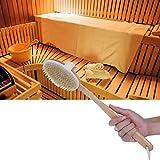 Parluna 16,7-Zoll-Saunabürste, Badebürste aus Holz + Kunststoff, Körperbürste, zum Peeling-Baden