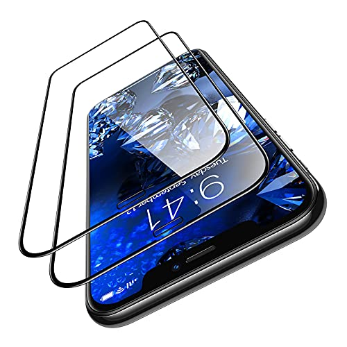 TORRAS Diamonds Hard for iPhone 11 Pro Max Screen Protector Tempered Glass [10X Military Grade Shatterproof] [Bubble Free] [10s Easy Installation] for iPhone 11 Pro Max Xs Max Film 6.5  - 2 Pack