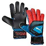 Puma One Protect 3 Guantes De Portero, Bleu Azur-Red Blast-Puma Black, 10