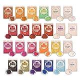 SEISSO 24er×10g Epoxidharz Farbe, Mica Pulver Farbpigmente Epoxidharz Metallic Farbe Resin Farbe...