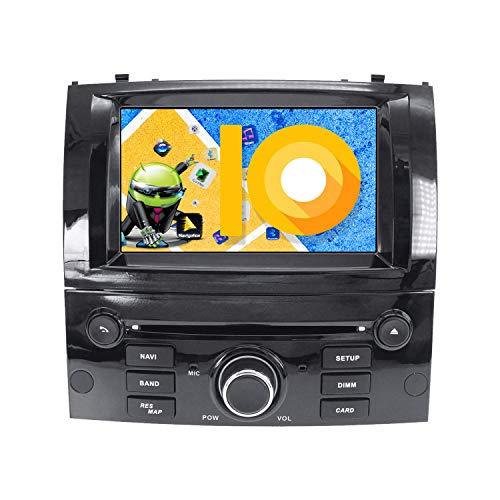 ZWNAV Andriod 10.0 Estéreo para automóvil Navegación por GPS para Peugeot 407 2004-2010 Soporte para Europa 49 CD de mapeo de país DVD Dab + WiFi Pantalla táctil de 7'