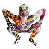 Morphsuits Clown Kostüm Kinder, Monster Verkleidung für Halloween und Karneval - L (120cm-137cm)