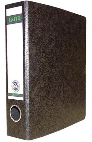Leitz 10650000 Qualitäts-Ordner (für Sonderformate, Hartpappe (RC) mit Wolkenmarmor-Kaschierung, A5, 5,6 cm Rückenbreite, 60 x 230 x 218 mm) schwarz