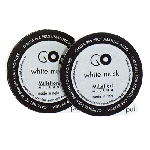 Millefiori Milano, Capsule Refill per Deodorante per Auto Go, 13RGMB, Muschio Bianco