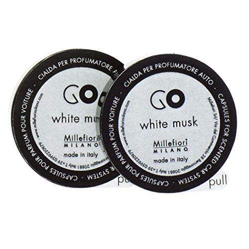 Millefiori Milano 13rgmb Blanco almizcle cápsulas–Recambio para ambientador para Coche Go