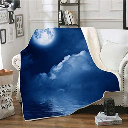 Vue de Nuit Ciel étoilé Couverture étudiant Drap de lit Simple créatif décoration Moderne Maison Couverture Adulte Bureau Multifonctionnel