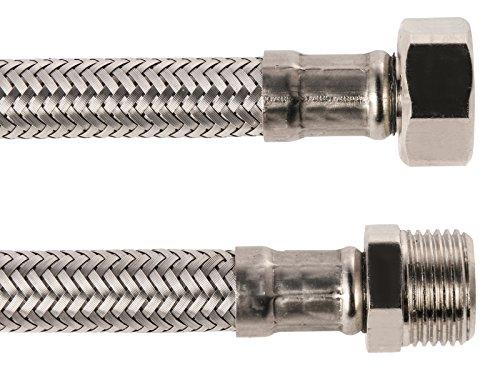 Sanitop-Wingenroth 19334 4 Armaturenschlauch für den Anschluss eines Wasserhahnes , 3/8 x 3/8 Zoll x 100 mm , Flexschlauch , Verbindungsschlauch , Anschlussschlauch Armatur