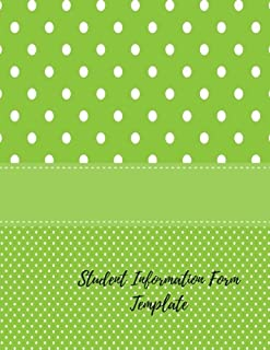Student Information Form Template: Parent Contact Log Book For Teachers. 8.5in by 11in 100 Pages For 50 Students. 3 Contact Records Per Student (Teaching Resources)
