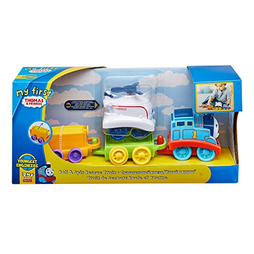 Thomas & Friends FKM91 My First Roll and Spin Rescue Thomas, Thomas the Tank Engine My First Toy Engine, Toy Train for Toddlers