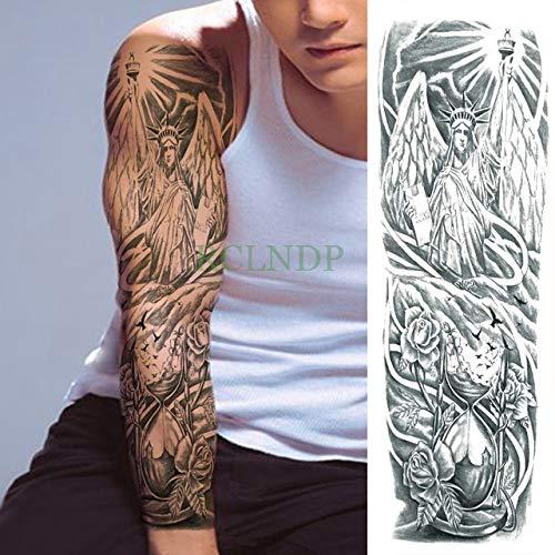 ljmljm 3pcs Tatuaje Impermeable Etiqueta Flor de Loto Pagoda Buda ...
