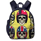 Kinderrucksack Kleinkind Jungen Mädchen Kindergartentasche Motorradhelm Backpack Schultasche Rucksack
