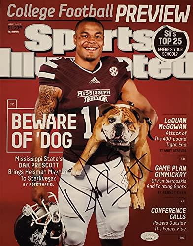 Dak Prescott Signed Autographed Auto MSU Mississippi State Bulldogs 11x14 Sports Illustrated Photo - JSA