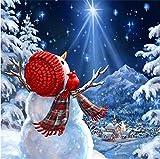 HJJEVERY Muñeco de nieve se puede colgar póster pared decoración del hogar manualidades instalación ...
