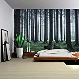 Brandless Forest Starry Tapestry Forest Tapestry Tree Night Sky Colgante de Pared Sala de Estar Dormitorio Decoración Mantel
