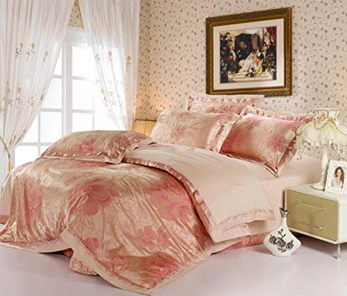 king size duvet covers-Home textile stagnna flower embroidered flower simulation silk soft silk cotton wedding bedding-Hide_2.0M bed 4 pieces