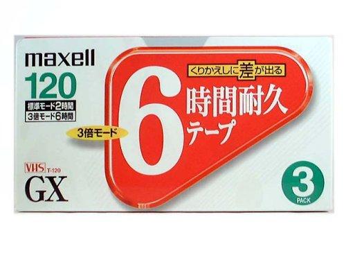 VHSビデオテープ GX T-120GXS.3P