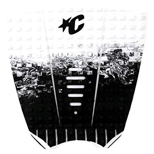 Creatures of Leisure Surf Grip Deck Mick Fanning Traction Pad, model, blanco y negro, talla única