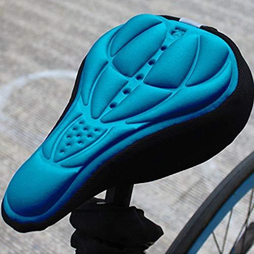 LILITRADE - Funda de cojín 3D Transpirable y Suave para Bicicleta de Interior, Spinning, estacionaria, de Viaje, de Carretera y de montaña