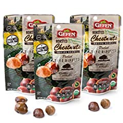 Gefen Roasted Organic Chestnuts are a tree-ripened, wholesome food choice.' Peeled and ready to eat Perfect for cooking, baking, or snacking.' All Natural, Good Source of Vitamin C, Fat Free, 0gr Sodium, No Sugar Added No Artificial Coloring, No Pres...