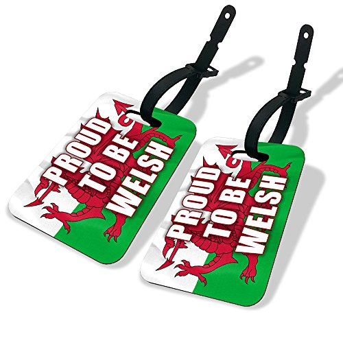 Koolart Proud to be Welsh MDF Luggage Tags Twin Pack