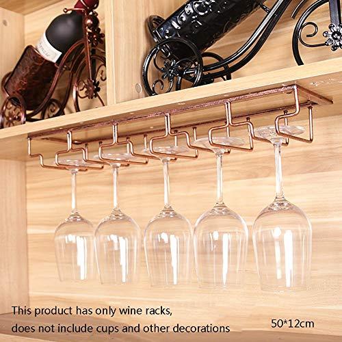 LY88 Smeedijzeren Wijnrek-/bekerhouder/Rode Wijnglazen Houder, Multifunctionele Barkast Kast Sieraden- Breedte 12cm -wijnglazen rek