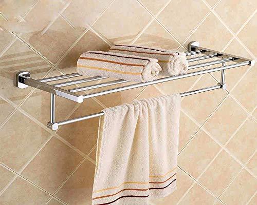 MLOZS Auto Adhesivo o Tornillos de Toallas de baño Toalla Rieles de Estante de Cobre Accesorios de baño Doble Juego