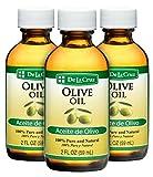 De La Cruz Pure Olive Oil, Non-GMO, Bottled in USA, 2 FL. OZ. (3 Bottles)