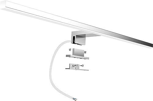 Aogled Lampe Miroir Salle de Bain 10W 820LM 60cm 230V 4000K,IP44 Imperméable Classe II,3 en 1 Miroir Lumineux Led,Non...