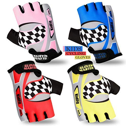 Gloves Master Enfants Gant Cyclisme Enfants Rembourré BMX Vélo VTT Mitaines Cycle Gants 19-11 - Rose, 2X-S