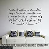 """The Best and the most Beautiful things in the world cannot be'- Citation..."