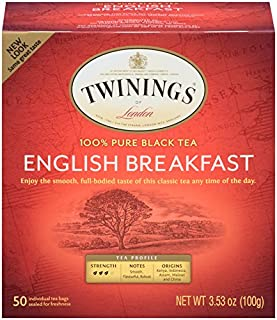 Sponsored Ad - Twinings of London English Breakfast Tea Bags, 50 Count (Pack of 6)