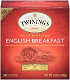 Twinings of London English Breakfast Tea Bags, 50 Count (Pack of 6)